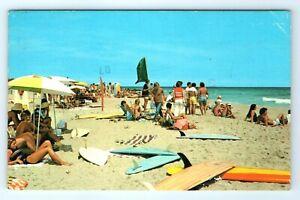 Vintage Postcard Hatteras Beach Outer Banks North Carolina Surfing NC