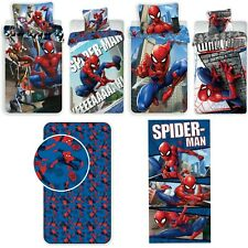 Spiderman - Kinder Jugend Bettwäsche Set 135 140x200 Baumwolle Bezug Badetuch