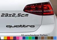 QUATTRO Schriftzug 23x2,5cm AUDI Q5 B3 B2 Aufkleber Autoaufkleber Sticker LOGO