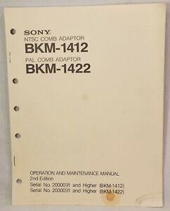 Sony BKM-1412 1422 NTSC / PAL Comb Adaptor Operation Maintenance Manual
