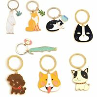 Cute Jewelry Gift Alloy Keychain Bag Pendant Animals Key Ring