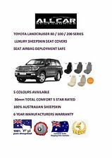 Toyota Landcruiser Sheepskin Car Seatcovers for 70/80/100/200 series Airbag safe