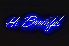 "Neon Sign Window Cling ""Hi Beautiful"" Suncatcher Decal Print Art Photo 7X10"