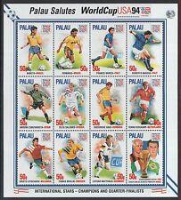 XG-J214 US PALAU - Football, 1994 Usa World Cup, International Stars MNH Sheet