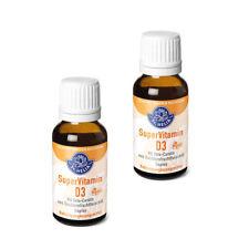Super Vitamin D3, hochdosiert, 1000 IE, Tropfen, 2x 20 ml, VEGAN