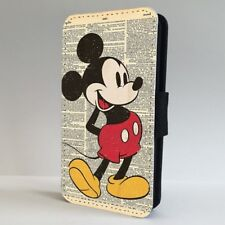 Disney Vintage Mickey Mouse Book Art FLIP PHONE CASE COVER for IPHONE SAMSUNG