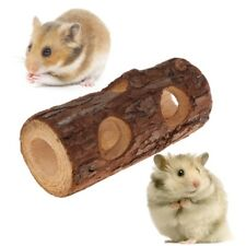 Hamster Tunnel Natural Wood Chew Toys Small Pets Squirrel Guinea Pig Chinchilla