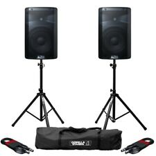 "Alto TX210 Active 10"" 150W RMS DJ Disco PA Speaker with Stands & Cables"