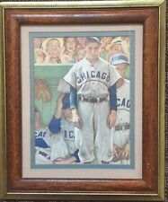 Norman Rockwell Chicago Cubs Bottom Of The Ninth Painting Print Framed 12X10