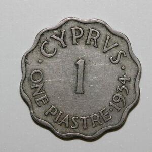 CYPRUS 1 PIASTRE 1934 (MG48R238)