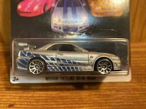 Hot Wheels Fast and Furious Nissan Skyline GT-R R34 2 Fast 2 Furious 2/8