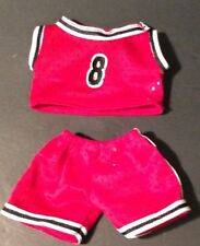 Teddy Bear Red Basketball Outfit