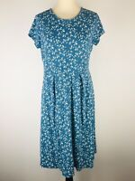 Seasalt Jade Blue Tunic Smock Riviera Dress Size 12 Sleeve Organic Cotton