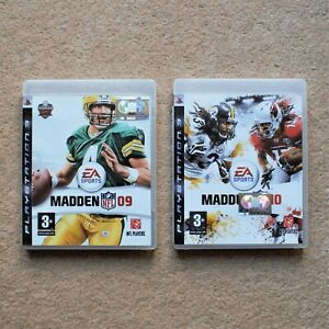 Madden NFL 09 10 (2009 2010) – 2x Sony PlayStation 3 PS3 Games