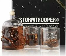 Stormtrooper Bottle Transparent Whiskey Decanter Set with 2 LIMITED EDITION