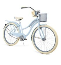 "Huffy 26"" Nel Lusso Women's Classic Cruiser Bike Perfect Fit Frame Light Blue"