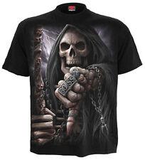Spiral Direct BOSS Reaper Camiseta, Reaper/ Motociclista/ Calavera/ Dark Ropa /