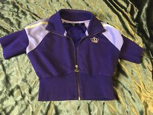 Rare ADIDAS Respect Me Missy Elliot Women's Zipper Purple/Yellow Size Cropped