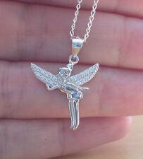"""925 Fairy Pendant & 18"""" Silver Chain/Fairy Jewellery/Fairy Necklace/Christmas"""