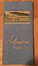 Arlington Park Jockey Club HORSE RACING PROGRAM 1944 Illinois Racing Board RARE