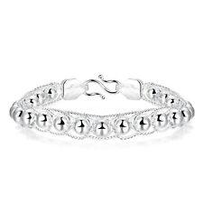 925 Sterling Silver End Beads Adjustable Size Bracelet L102-12
