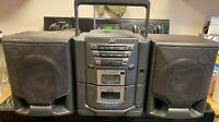 JVC PC-X102BK AM/FM/Cassette/CD Stereo Boombox