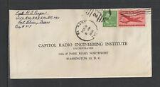 1950 CAPITAL RADIO ENGINEERING INSTITUTE WASHINGTON DC US ADVERTISING COVER