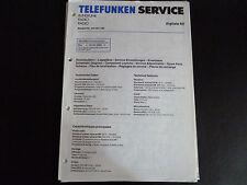 Schaltbild  Service Informationen Telefunken Radio digitale 60