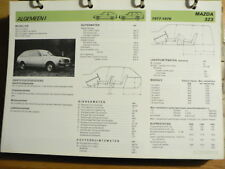 MAZDA 323 1977-79 INFO TECHNICAL INFORMATION CAR AUTO OLY069