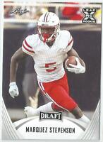 Marquez Stevenson 2021 Leaf Draft Rookie Card #35