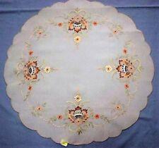 Cream Organza 60cm Round Doiley
