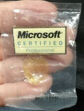 Rare Microsoft Certificated Professional Pin Badge sealed mint!!!