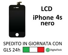 TOUCH SCREEN VETRO LCD DISPLAY IPHONE 4S NERO