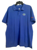 Nike Florida Gators Mens XL Golf Polo University of Florida Short Sleeve Blue