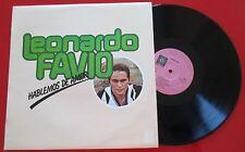 LEONARDO FAVIO *** Hablemos De Amor *** RARE COVER 1978 Spain LP