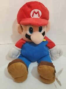 Super Mario With Back Pocket Nintendo Stuffed Toy Doll Plush Bibs Hat Brothers