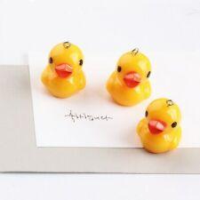 10pcs Cute Yellow Duck Resin Earring Bracelets Pendant For Jewelry Making