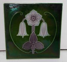 English Art Nouveau Majolica Tile, Stylish Floral Design !