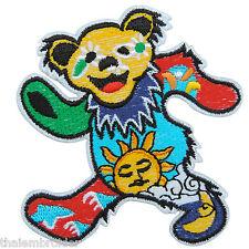 Bear Star Sun Moon Flower Grateful Dancing Dead Hippie Peace Iron on Patch #S005