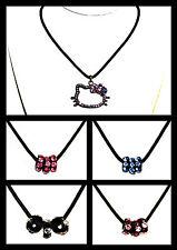 Markenlose Modeschmuck-Halsketten aus Strass und Edelstahl