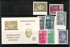 Paraguay Sc 736-43 +743a imperf NH ISSUE of1963. Olympics - VERY RARE!!!