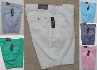 """POLO RALPH LAUREN MEN'S CLASSIC FIT CASUAL SHORTS KHAKIS CHINOS 9"""" INSEAM NEW"""