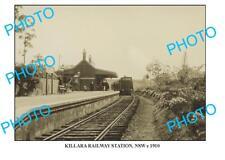 LARGE PHOTO OF OLD KILLARA RAILWAY STATION, c1910 NSW