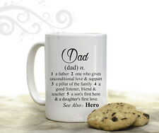 Dad Dictionary Definition Coffee Mug for Fathers Day Birthday Daddy Gift