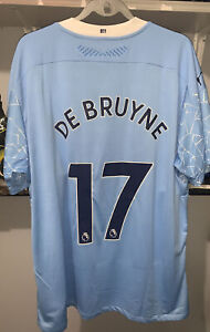 $175 Puma Kevin De Bruyne Manchester City Player Issue Soccer Jersey 3XL