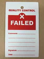 Quality Control QC Failed Plastic Tags - Pack of 10
