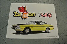 NOS 1971 Dodge Demon 340 Art Picture Print Dealer Advertising MOPAR