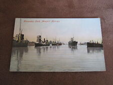 Early Monmouthshire Postcard -- Alexandra Dock Newport - shipping interest