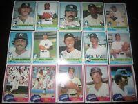 Lot of (112) 1976-1982 Topps New York Yankees