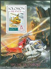 SOLOMON ISLANDS 2014 SPECIAL TRANSPORT HELICOPTER  SOUVENIR SHEET MINT NH